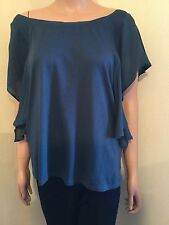 LADIES PIPER & PAUL BY SAM & LAVI TEAL TOP T SHIRT SIZE S M UK 12 US 10 D 38