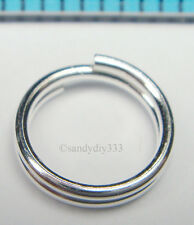 10x STERLING SILVER ROUND JUMPRING SPLIT JUMP RING 7mm 0.75mm  21GA N652
