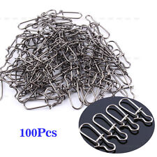 100 Pcs 6# Sea Fish Fishing Lure Line Connector Cross Lock Snap Clip Tackle Tool