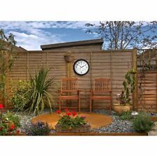Atomic Wall Clock Large Thermometer Hygrometer Combo Outdoor Clocks Waterproof