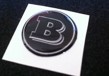 1 Adesivo Resinato Sticker 3D BRABUS Smart 95 mm