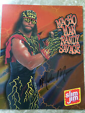 Macho Man Randy Savage Autograph 8x10 wwf wwe wrestling hall of fame signed