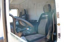 1+1 MERCEDES ATEGO Tailored Seat Covers + Headrest Protectors Black / Grey Lux