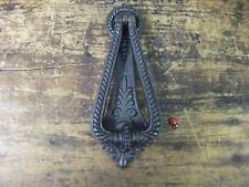 Traditional heavy Cast Iron Door Knocker - Antique Victorian Style 3