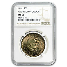 1952 Washington-Carver Half Dollar MS-66 NGC - SKU #43184