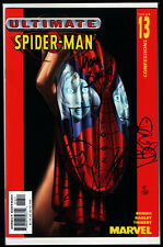 Ultimate Spider-Man #13 Signed Remarked Bagley Thibert Bendis 71/129 + DF COA NM