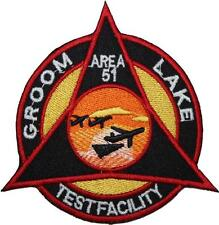 Area 51 Groom Lake Facility Triangle Badge Embroidered Patch Sew/Iron-on 10cm