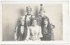 Real Photo Postcard Men & Women Dressed in Costumes~104407