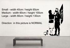 """BANKSY """"Punk de la mamá de pared calcomanía de pegatinas! Master De Street Art! 60cm X 100cm"""
