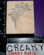 LILY OF THE VALLEY FLOWER RUBBER STAMP MAGENTA E0107
