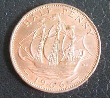 1/2 Penny Gran Bretagna 1966 - Regina Elisabetta II con veliero -  nr 772
