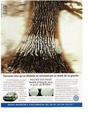 PUBLICITE  advertising  1997   VOLKSWAGEN  GOLF MATCH DOUBLE AIR BAG