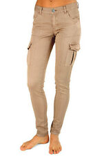 NEW + TAGS BILLABONG 'PATRIATE' LADIES 8 ROCK CARGO PANTS STRETCH JEANS BEIGE