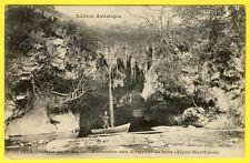 cpa RARE Dos 1900 Environs de NICE (Alpes Maritimes) GROTTE de St ANDRÉ Animé