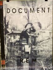 """R.E.M. """"DOCUMENT"""" U.S. PROMO POSTER FROM 1987-Alternative Rock, New Wave Legends"""