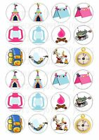 24 CAMPING CUPCAKE TOPPERS ICED ICING FAIRY CAKE BUN TOPPERS