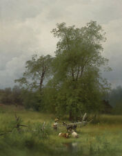 Herzog Hermann Summer Afternoon In A Meadow Canvas 16 x 20  #5961