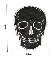 Black Skull Iron Sew On Embroidered Patch Badge Patches Logo Fancy Badges #347