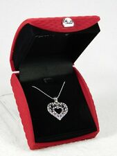 Heart Necklace-Elegant 'Antiquity' Beautiful Soft Box Silvertone NIB!