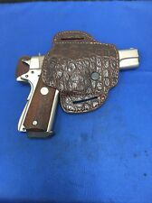 "TRIPLE K #777 GENUINE AMERICAN ALLIGATOR HOLSTER FOR COLT 1911 5"" NEW- OVER RUN"