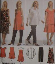 Simplicity 4704 Sewing Pattern Maternity Strapless Dress Tunic Shirt Pants 6-12