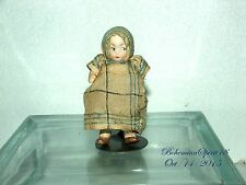 ANTIQUE VINTAGE JAPAN BISQUE BABY GIRL GOOGLE EYES DOUBLE JOINTED MINIATURE DOLL