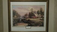 Sunset at Riverbend Farm Thomas Kinkade limited edition Lithograph