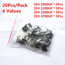 20Pcs 35V 1000UF 2200UF 3300UF 4700UF Electrolytic Capacitor Assorted Kit