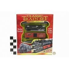 CLASSIC 3.5m TOY TRAIN SET TRACK BATTERY OPERATED CARRIAGES LIGHT TANK TY308
