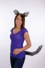 WOLF EARS AND TAIL SET GREY BIG BAD WOLF WEREWOLF WOLFMAN COSTUME EARS & TAIL