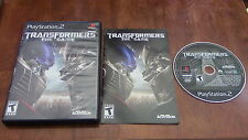 Transformers The Game Sony Playstation 2 PS2 Game Complete