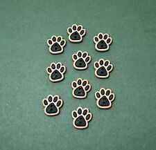 Dress it Up Sew Cute Dog Paw Buttons - Dogs Cats Pets - Animals - Flat back