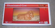 "NEW Christmas Nativity Cow Lighted Blow Mold General Foam Blowmold 22"" Long"