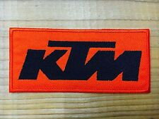 KTM Sew Iron On Patch Motorcycles Racing Logo Embroidered Motor Racing Sport