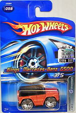 HOT WHEELS 2006 DROPSTARS BLINGS MERCEDES-BENZ G500 #058 ORANGE FACTORY SEALED