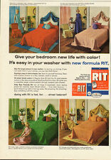 1962 Vintage ad for RIT~tints and dyes`retro bedroom styles (010214)