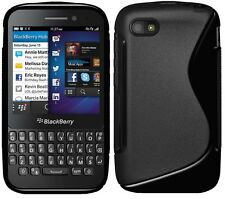 Amzer Premium High Gloss + Matte TPU Hybrid Fit Case Cover BlackBerry Q5 - Black