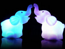 Romantic Elephant Color Changing LED Night Light Lamp Home Kids Room Decor Gift