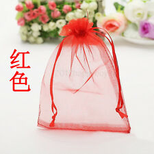 Hot Sale! 25Pcs Red Organza Gift Bag Jewelry Pouch Wedding Favor Bags 9x7cm