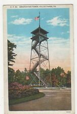 USA, Observation Tower, Valley Forge PA. Postcard, B226