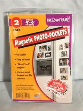 Freez-A-Frame 4 x 6 Magnetic Photo Pockets 2-pack Whites