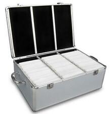 Aluminium CD DVD Bluray Storage Case Box 500 Discs 2 Lock Cd & Dvd Storage