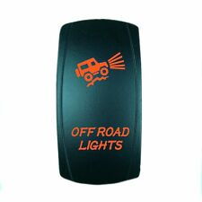 ORANGE ROCKER SWITCH LASER ETCHED 20A 12V LED OFFROAD LIGHTS