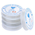 5 x Rolls Clear Elastic Cord Thread String for Necklace Bracelet Bead Making