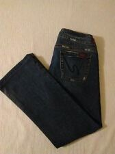 Womens SILVER Tuesday Capri Size 29 Blue Jeans Distressed