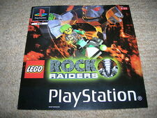 LEGO ROCK RAIDERS – PS1 PAL Front Box Art Insert Only