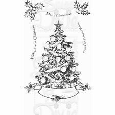 SWEET DIXIE Kath Halstead OH CHRISTMAS TREE Clear Stamps SDCSA6117 A6 Home Yours