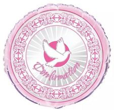 """Confirmation Pink Girl Party Decorations 18"""" Foil Balloon"""