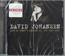 DAVID JOHANSEN- LIVE AT BUNKYS MADISON WI, JULY 1978 CD New York Dolls PUNK
