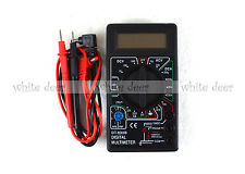 DT 830B LCD Voltmeter Ammeter Ohm Digital Multimeter Battery & Leads Electric